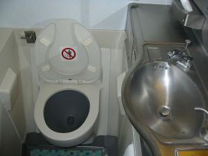 Boeing 747 toilet